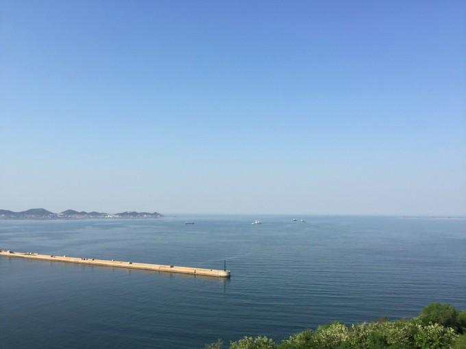 青岛海水浴场钟表楼