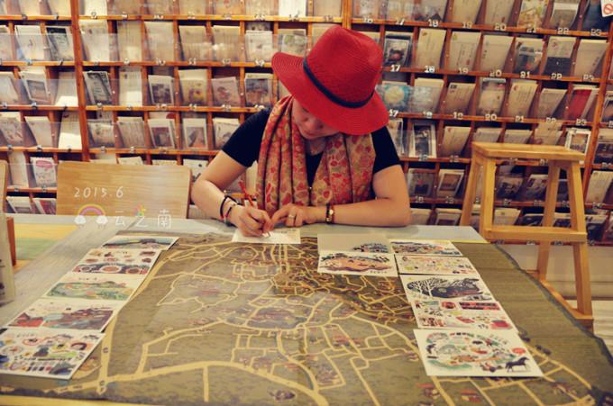 火锅店墙体手绘文字
