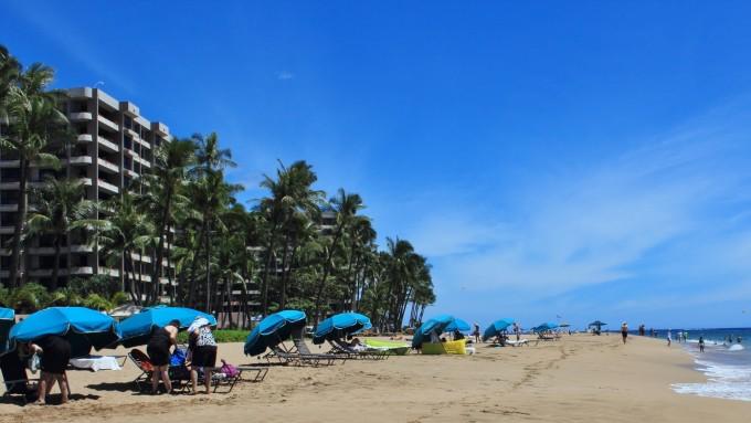 西北41公里外的茂伊岛。 茂伊岛(MAUI )是一座年轻的岛屿,面积1886平方公里,人口6.3万,是夏威夷第二大岛屿。普库库伊(PUU KUKUI)和哈雷阿卡拉 (HALEAKALA)火山形成该岛东、西两半岛,之间连有11公里宽陆地峡谷。 接待我们的当地导游小李,是一个天津小伙,到了机场逐一核对名单上的人,出机场前提醒大家去厕所、买饮料,因为一会儿要走很长的路。大家上了他的面包车,他关车门之前又清点了一遍人数,显得很职业、很用心。车子一开动,他又提醒大家,需要充电的手机可以拿到前面来,让人感到即热情又诚
