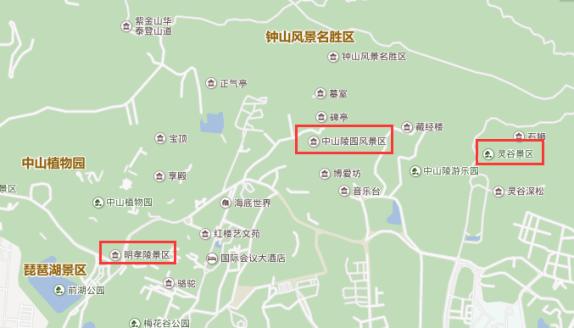 南京#游钟山风景区旅游顺序由远到近