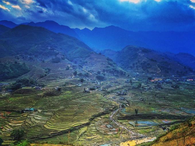 越南风景照片河流田