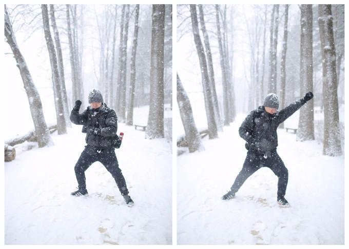 还以为下雪应该没法看到小动物呢,真是惊喜呀!